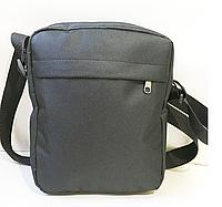 Спортивные сумки-планшеты на плечо из текстиля (ЧЕРНЫЙ БЕЗ НАКАТКИ19*24см
