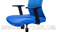 Кресло для работы дома Barsky BM-05 Mesh White/Blue, сеточное кресло, синий / белый, фото 3