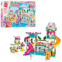 Детский конструктор для девочек Qman Cherry, большой набор 828 деталей, для детей от 6 лет