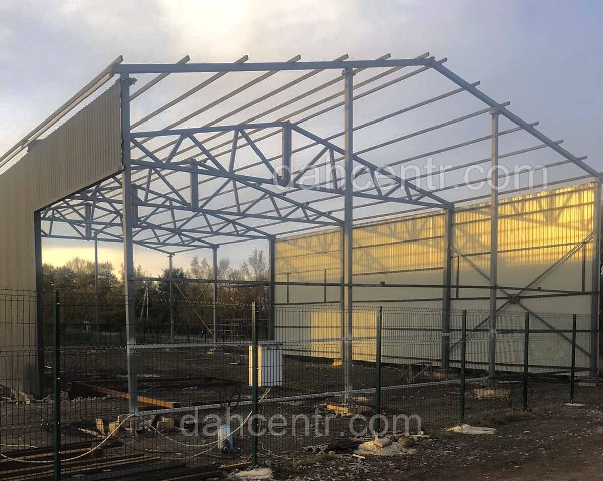 Зернохранилище 10х60 склад, ангар, цех, навес, фермы, крыша, здание