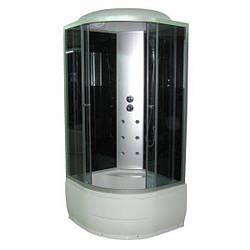 Гидромассажный бокс SunLight 470 80G сатин 80х80х215 см Черный с Белым, КОД: 1370984