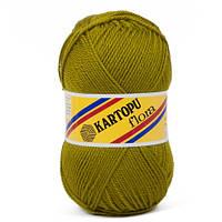 Пряжа для ручного вязания Kartopu Flora (акрил) оливка