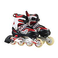 Ролики 210,колеса PU,переднее светится, Ролики, скейты, самокаты, защита