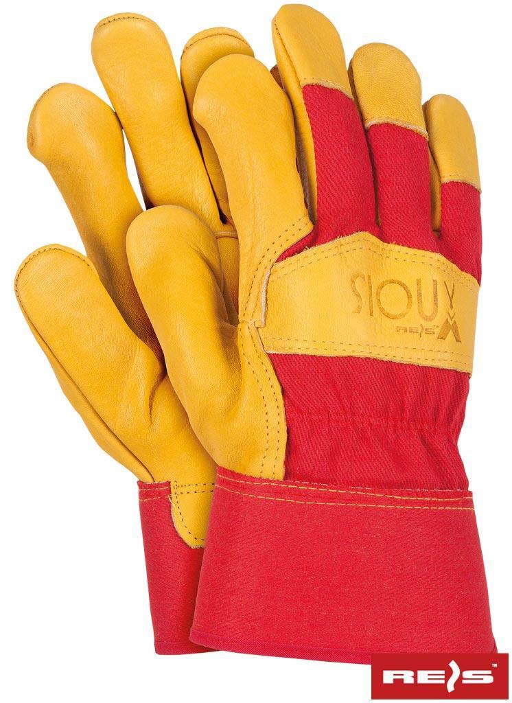 Перчатки рабочие кожаные REIS Польша SIOUX-REDEO CY