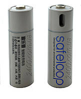 Батарейка (аккумулятор) АА micro USB 1250 мАч 1.5V Safeloop, батарейка 1250мАч 1.5В