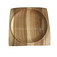 Доска для подачи блюд Менажница деревянная, квадратная 20см