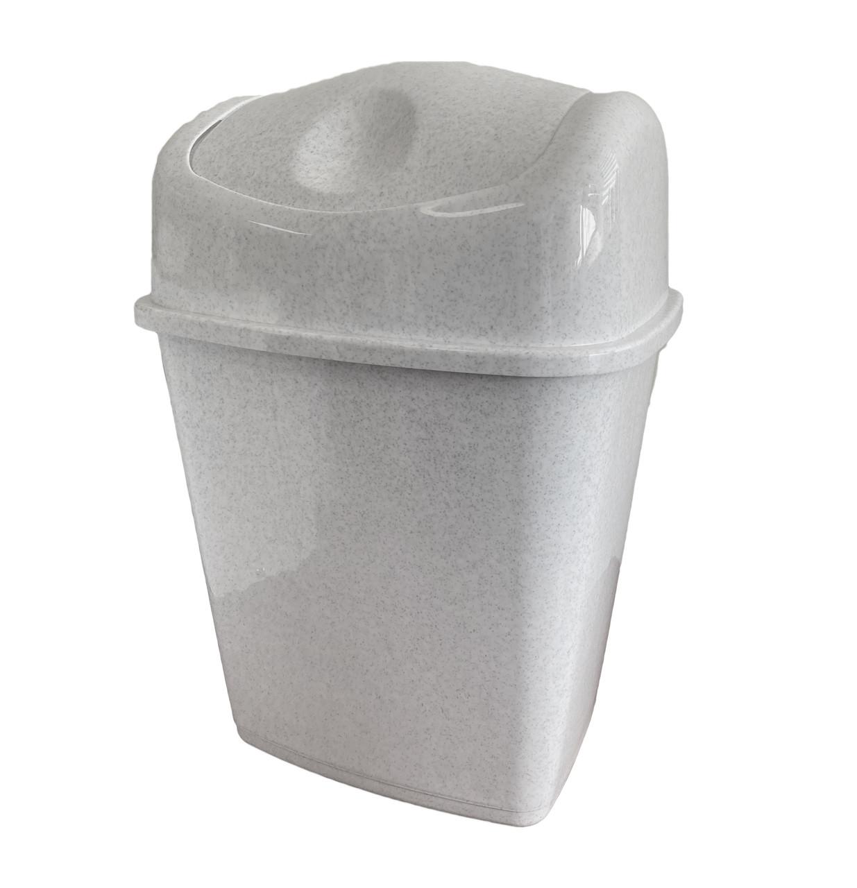 Ведро для мусора с поворотной крышкой ММ Пласт 27л