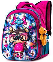 Школьный рюкзак с ортопедической спинкой Winner One для девочки Сова 38х29х19 см Розовый в 1 класс (R1-004)