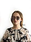 Стильные солнцезащитные очки Dior Monster(цвет розовый в золотистой оправе,зеркальные), фото 4