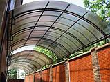 Сотовый поликарбонат Polygal СТАНДАРТ  4 мм Бронза 2.1х6 и 2.1х12 метров, фото 7