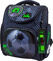 Рюкзак школьный ортопедический Футбол для мальчика 1-4 класса в подарок сумка для сменки и часы Delune 3-165