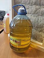 Льняное масло с воском для дерева (пропитка дерева) канистра 4 л, фото 1