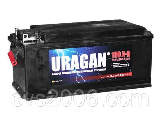 АКБ 6СТ-190 Тип3 (плоский конус)(пт 1200)(евро) URAGAN