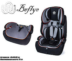 Автокресло детское универсальное для детей 9-36 кг от 9 месяцев BeFlye Черный