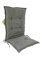 Матрас для шезлонга florabest 113 х 50 х 7 см Серый-белый M20-370027, КОД: 1698361