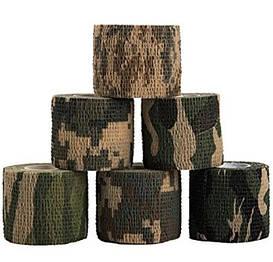 Маскировочная, тактическая, камуфляжная лента (лесной камуфляж)