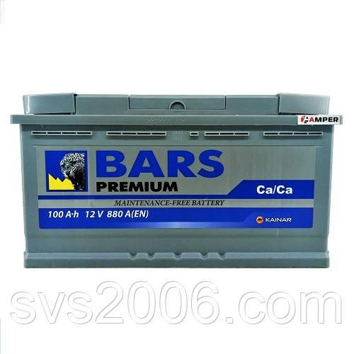 АКБ 6СТ-100 R+ (пт 800)(не обслуж) Premium BARS