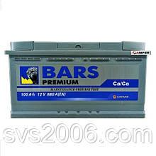 АКБ 6СТ-100 R+ (пт 800)(не обслугов) Premium BARS