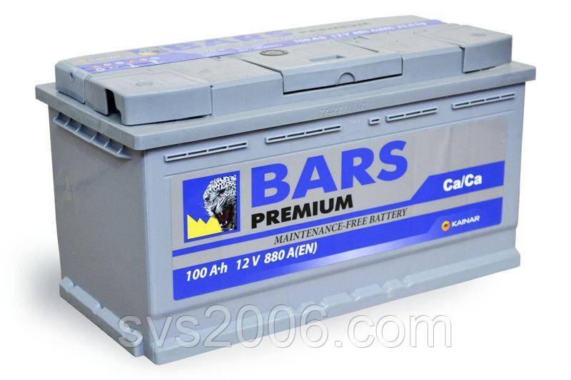 АКБ 6СТ-100 R+ (пт 800)(не обслуж) (азия) BARS