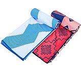 Швидковисихаюче рушник для спорту і йоги 75х186 см Блакитне, фото 4