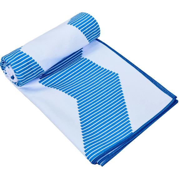 Швидковисихаюче рушник для спорту і йоги 75х186 см Блакитне
