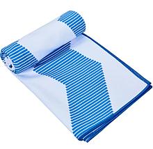 Быстросохнущее полотенце для спорта и йоги 75х186 см Голубое