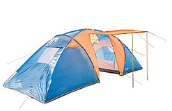 Палатка шестиместная двухслойная с тамбуром и тентом Coleman 1002