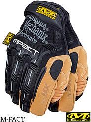 Перчатки тактические кожаные MECHANIX RM-MPACT4X