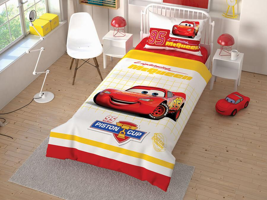 Постельное белье подростковое Cars Cek ранфорс Tac Disney