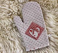 Варежка для горячего красная -Сердечко 204070