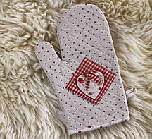 Рукавиця для гарячого червона -Сердечко 204070