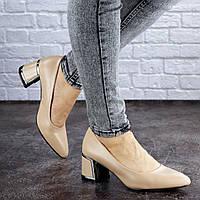 Женские туфли на каблуке Fashion Vinnie 2025 36 размер 23 см Бежевый, фото 1