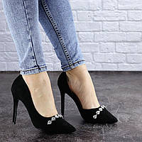 Женские туфли на каблуке черные Fajita 1951