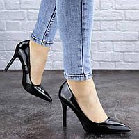 Женские туфли на каблуке черные Flipper 1946