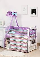 Комплект дитячої постілі Twins Modern ІІ 4028-P-116 Зигзаг фіолетовий