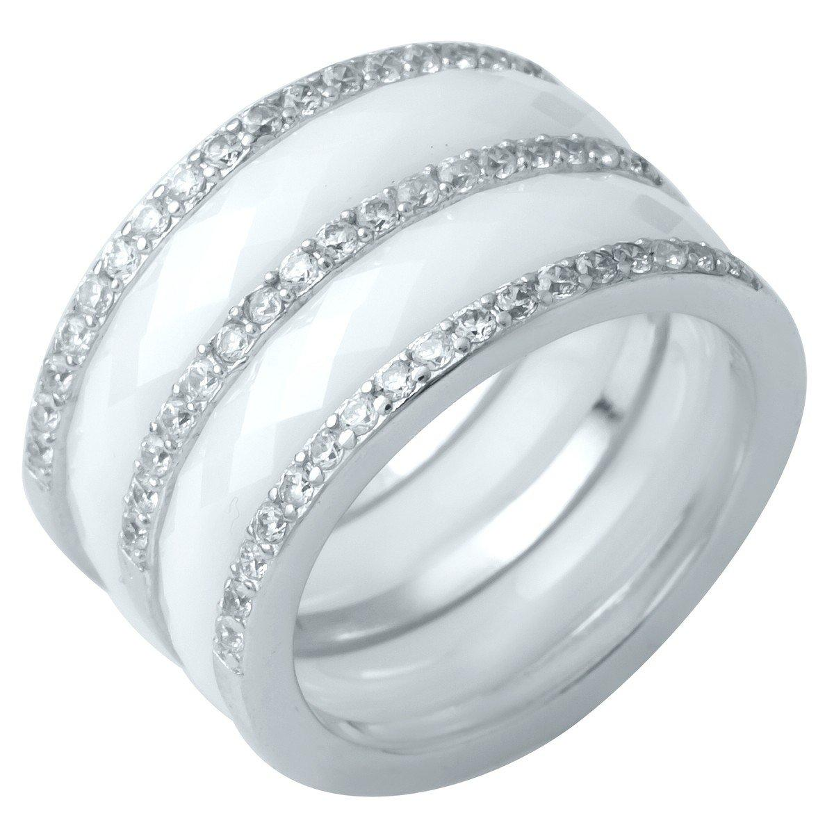 Срібне кільце DreamJewelry з керамікою (1214299) 17.5 розмір