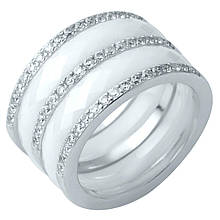 Серебряное кольцо DreamJewelry с керамикой (1214299) 17.5 размер