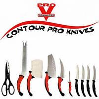 Набор кухонных ножей из нержавеющей Contour Pro Knives 11 предметов (Реплика)