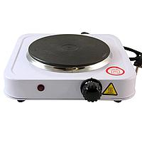 Дисковая  электро плита на одну конфорку с регулятором мощности белого цвета WimpeX WX-100A-HP (1000 Вт), фото 1