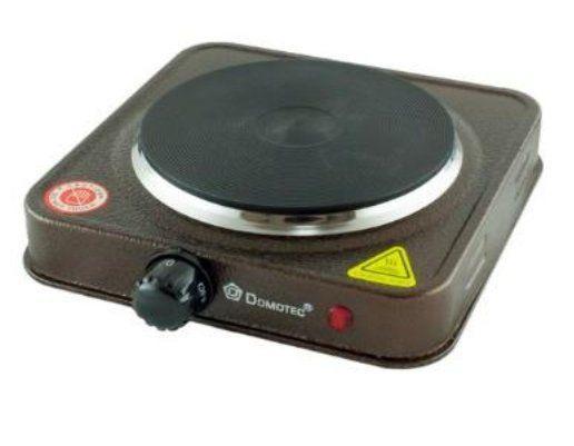 Дисковая  электро плита на одну конфорку с регулятором мощности коричневаго цвета Domotec MS-5821 (1000 Вт)