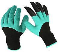 Садовые прорезиновые перчатки с когтями для защиты рук GARDEN GENIE GLOVES, фото 1