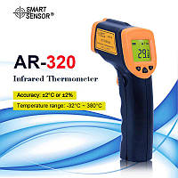 Лазерный цифровой бесконтактный термометр для измерения высоких и низких температур   Пирометр AR320, фото 1