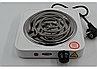 Спиральная электро плита на одну конфорку с регулятором мощности белого цвета WimpeX WX-100B-HP (1000 Вт), фото 3