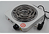 Спиральная электро плита на одну конфорку с регулятором мощности белого цвета WimpeX WX-100B-HP (1000 Вт), фото 4
