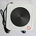 Дисковая  электро плита на одну конфорку с регулятором мощности белого цвета WimpeX WX-100A-HP (1000 Вт), фото 4