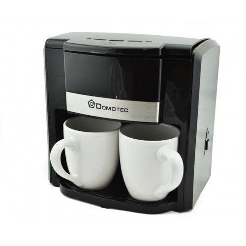 Электрическая капельная кофеварка с чашками черного цвета   Кофемашина DOMOTEC MS-0708