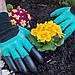 Садовые прорезиновые перчатки с когтями для защиты рук GARDEN GENIE GLOVES, фото 8
