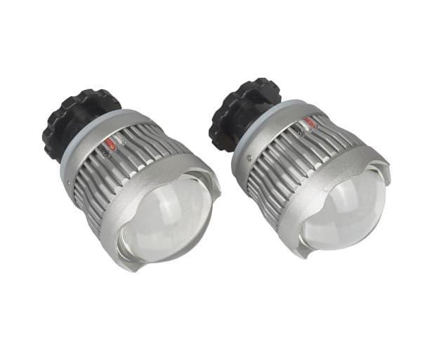 Автомобильные LED линзы AMS дальнего света (комплект 2 шт.)