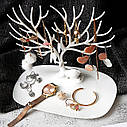 Оригінальна підставка для прикрас у вигляді оленя білого кольору My Little Deer Tray, фото 3