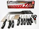 Набір кухонних ножів   Набір кухонних ножів Mibacle Blade 13 в 1 (Репліка), фото 8